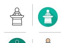 Speaker icons. Vector