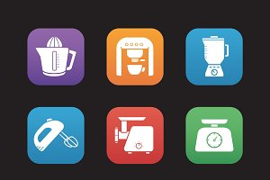 Kitchen electronics. Vector