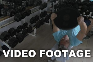 Mature man exercising