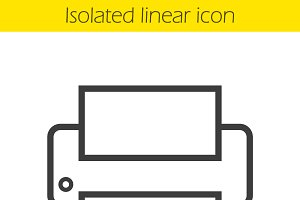 Printer icon. Vector