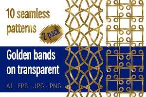 10 golden bands patterns Pack 2