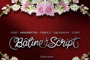 Baline Script Typeface + Bonus