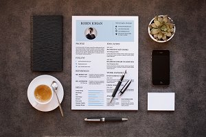 Clean Cv / Resume Template-V021