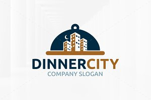 Dinner City Logo Template