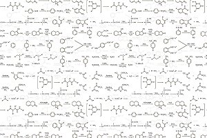 Recondite chemical equations pattern