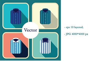 Men's shirts. Vector fashion shirts