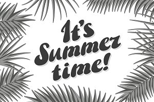 It s Summer Time Typographical