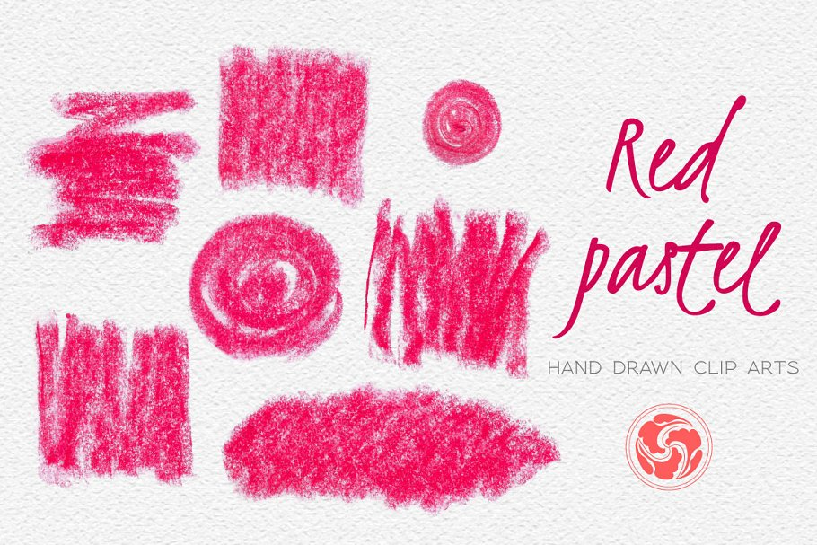 red chalk strokes and shapes