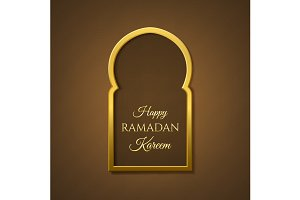 Happy Ramadan Kareem background.