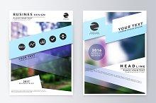 Business plan flyer design template
