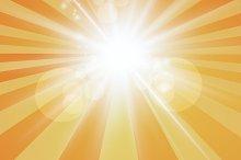 The sun radiation