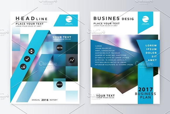 Business paper. Leaflet cover
