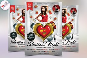Valentine's Night Flyer Template