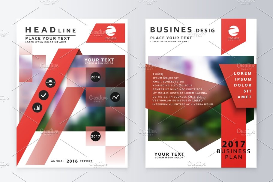 Annual report  brochure. in Product Mockups