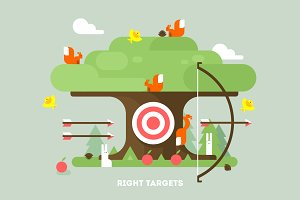 Right targets tree