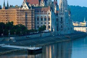 Budapest Parliament view.