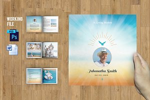 Funeral Program Template-8 Page-V504