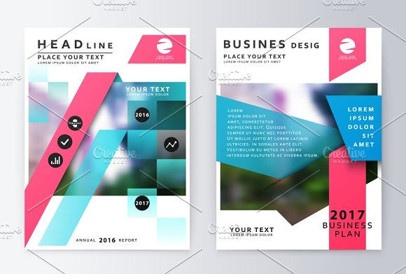 Brochure Template. Report - Product Mockups