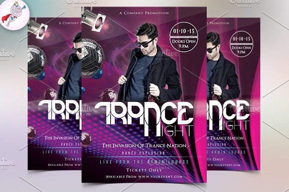 dance flyer template flyer templates creative market