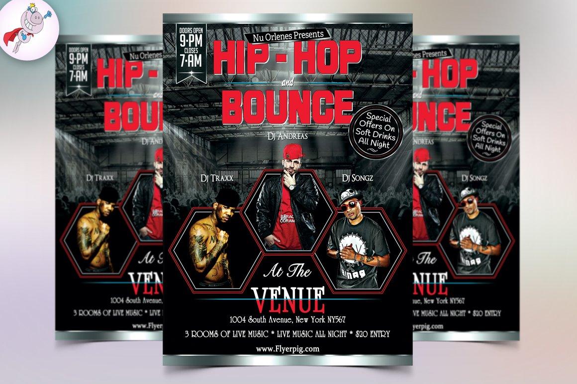 Hip Hop Music Flyer Template Flyer Templates Creative Market – Hip Hop Flyer Template