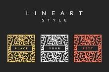 Set of design elements. Line art