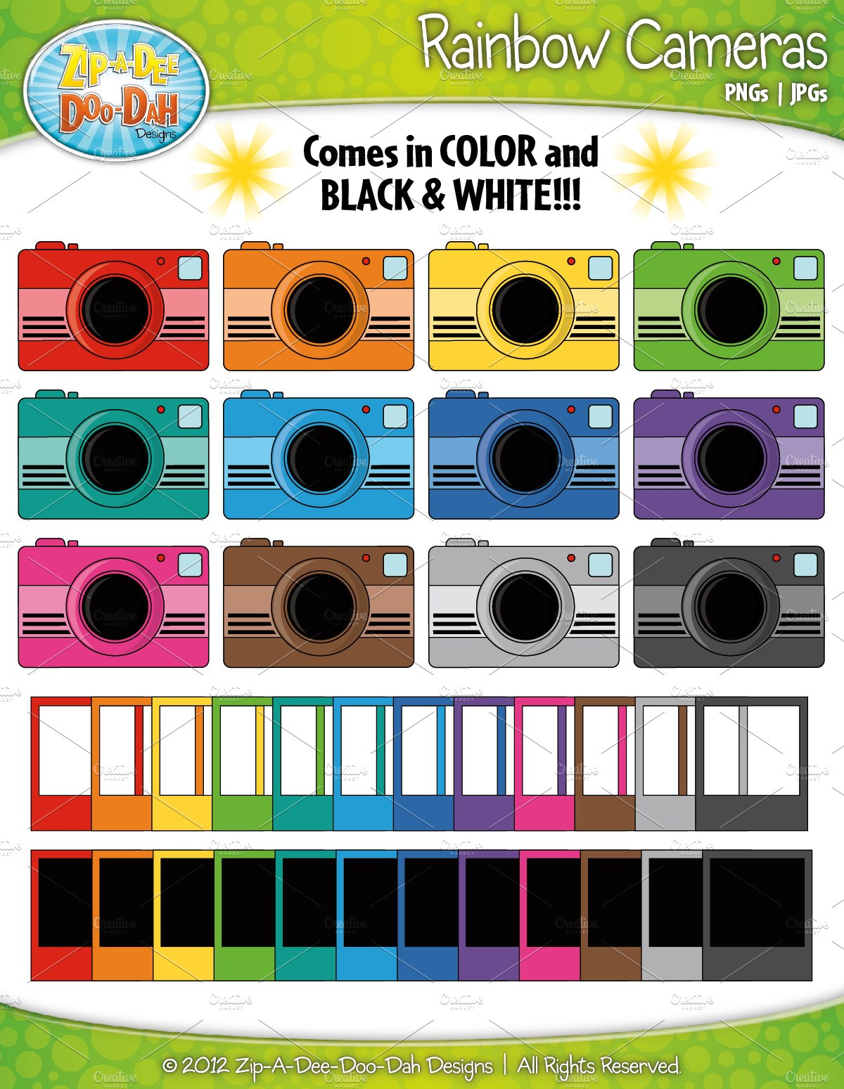 Polaroid camera clipart Photos, Graphics, Fonts, Themes, Templates ...