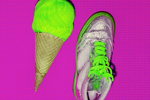 Ice cream and sneakers