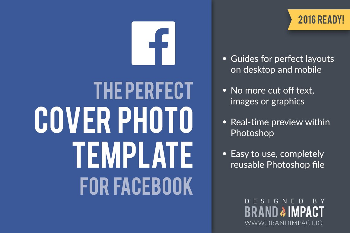 Facebook Cover Image Template Product Mockups Creative Market