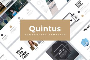 Quintus Minimal Powerpoint Template