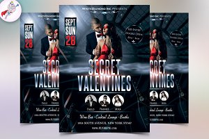 Valentines Nightclub Flyer Template