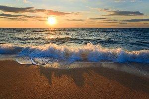 sea sunset beach view