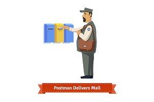 Postman delivers a letter