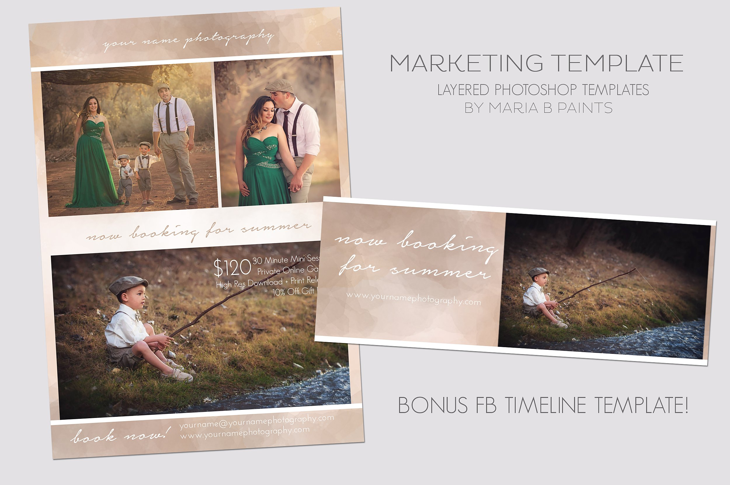Photography Marketing Template Flyer Templates Creative Market - Photography ad template
