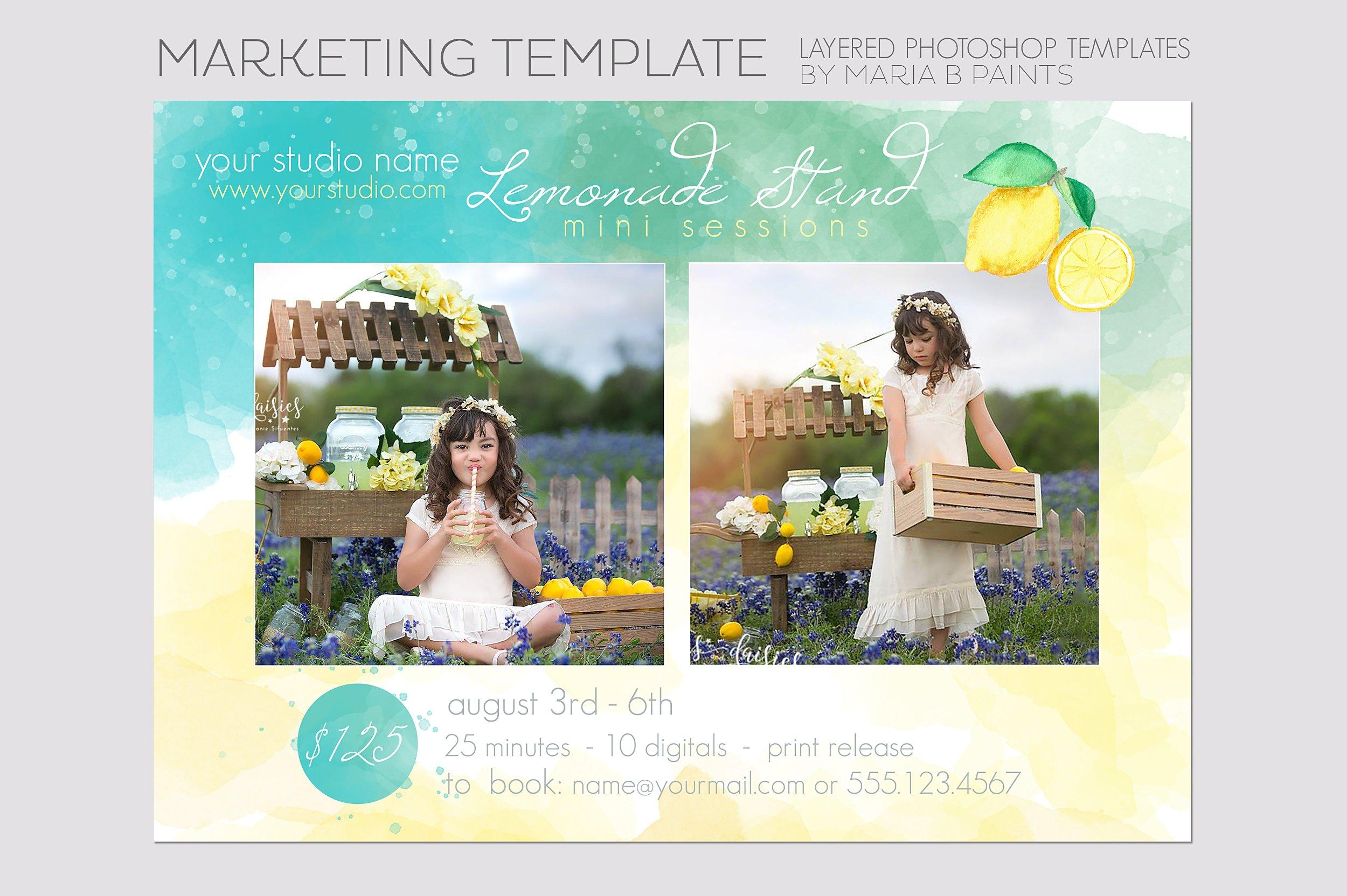 photography template lemonade flyer templates on creative market