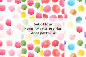 Seamless watercolor pink patterns