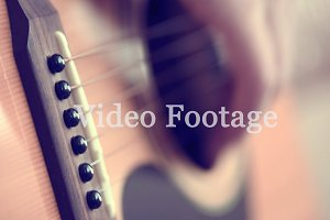 Play Guitar Closeup
