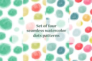 Vector seamless watercolor patterns