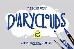 Diaryclouds typeface