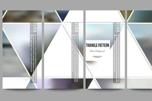 Bundle of 42 blurred templates