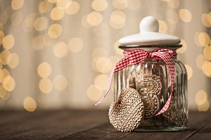 Gingerbread cookies in a jar