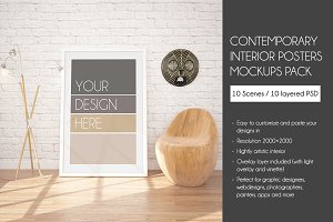 10 Contemporary interior MockUPs