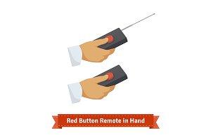 Red button remote control