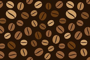 Coffee Beans Seamless Pattern Set