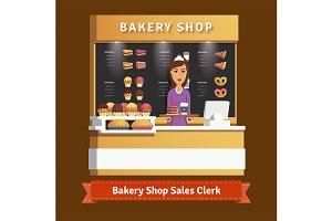 Bakery shop woman assistant