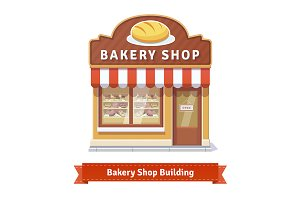 Bakery shop building facade