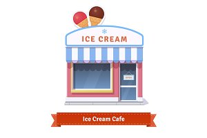 Ice cream restaurant and shop