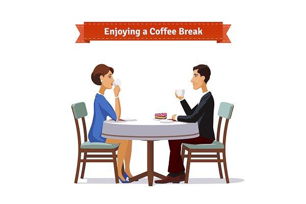 Enjoying a coffee break