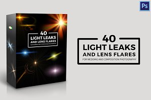 40 Light leaks and lens flares