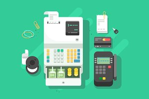Cash machne and terminal for cards
