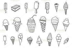icecream icons set